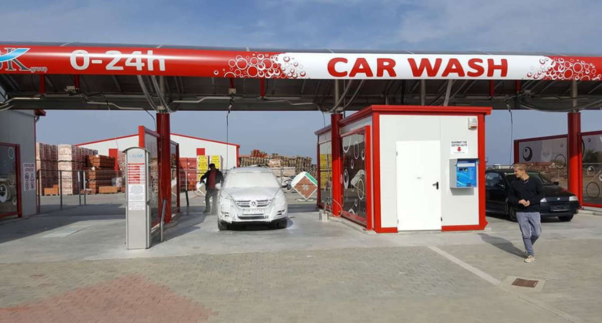 DiBO's first self-carwash in Romania | DiBO